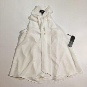 NWT Lulus Size S Tie V Neck Sleeveless Blouse
